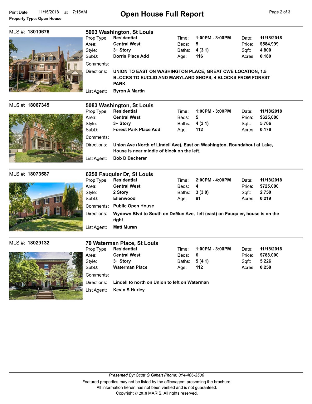 Central West End Open Houses