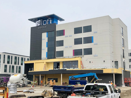 Aloft Hotel in Cortex is Getting Close... Signs are Up!