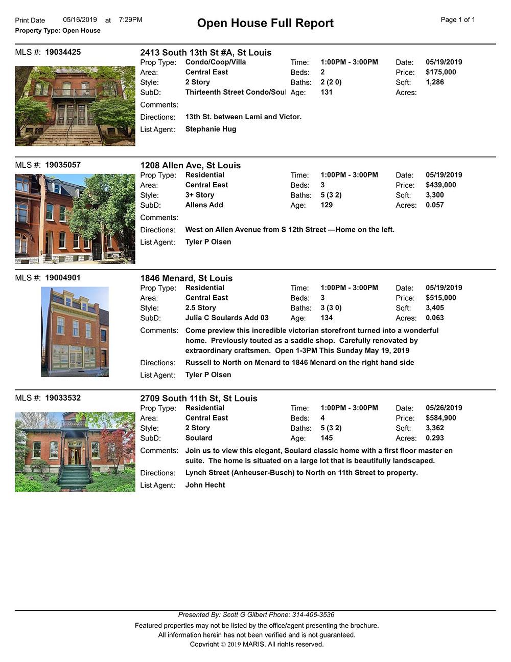 St Louis Open Houses