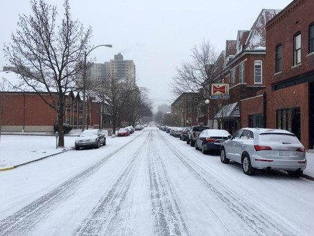 Snow Arrived to the CWE this AM