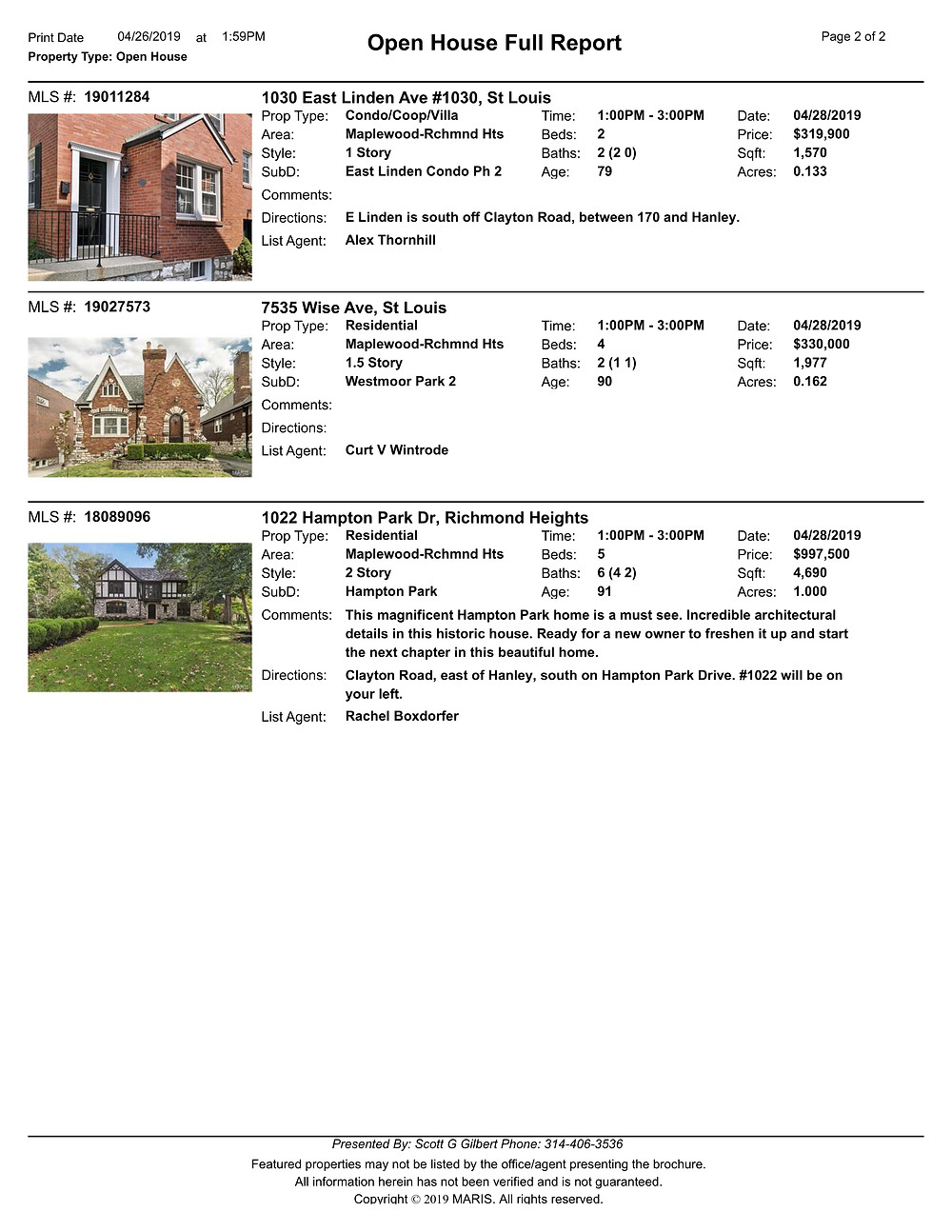 St Louis Open Houses