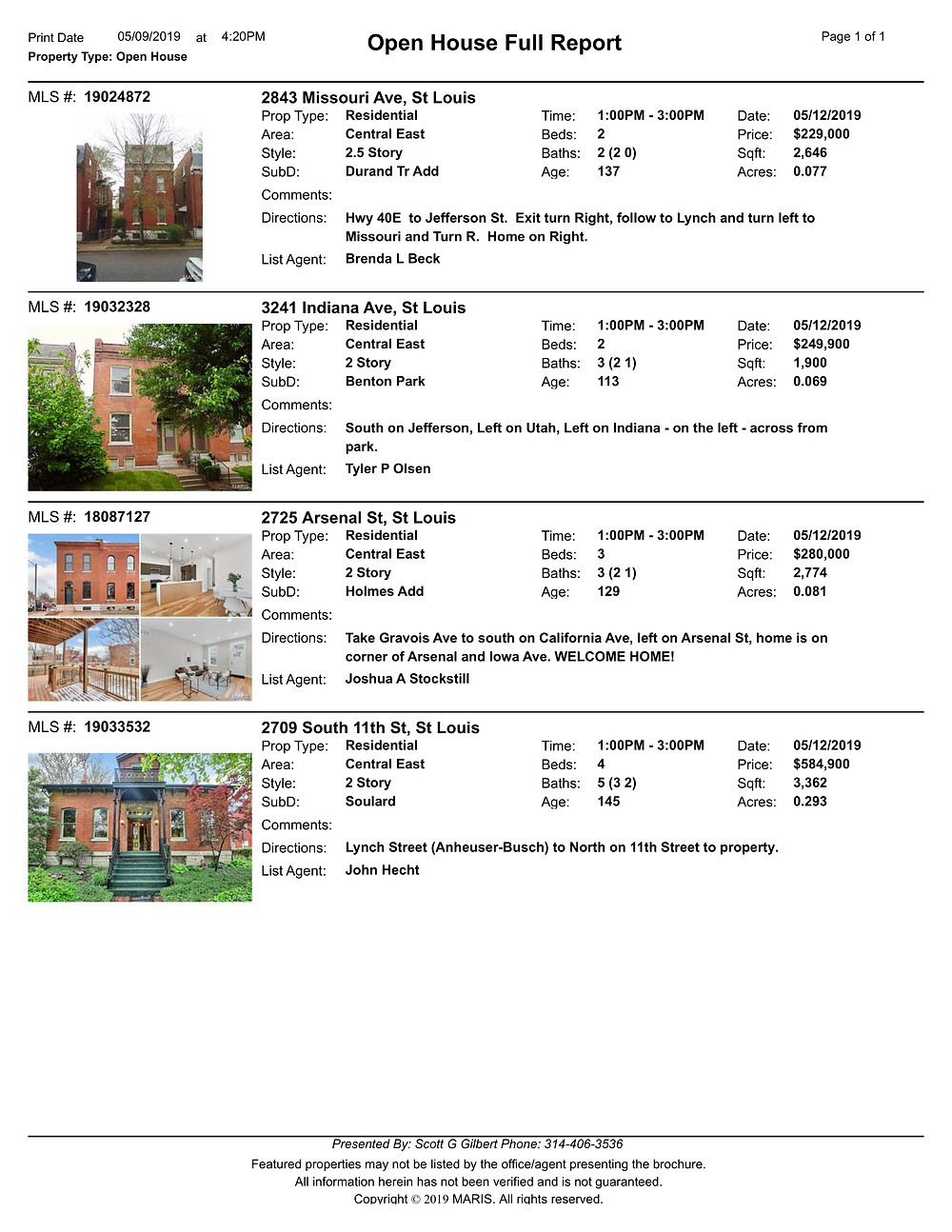 St Louis | Benton Park | Open Houses