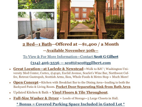 Laclede Condo For Lease -Great Location!