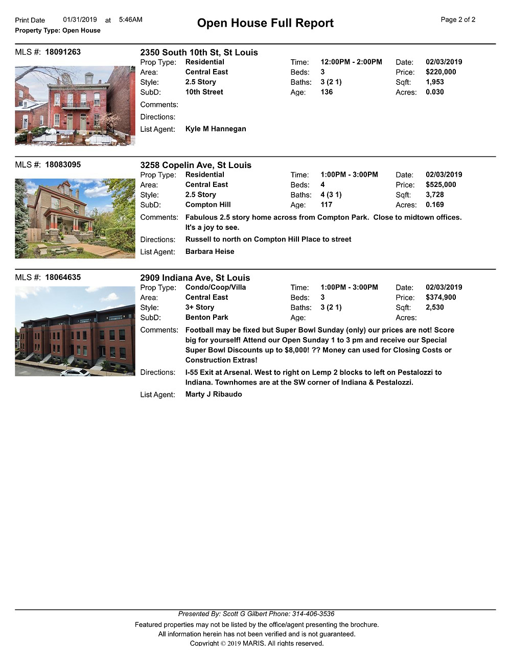 Benton Park Open Houses