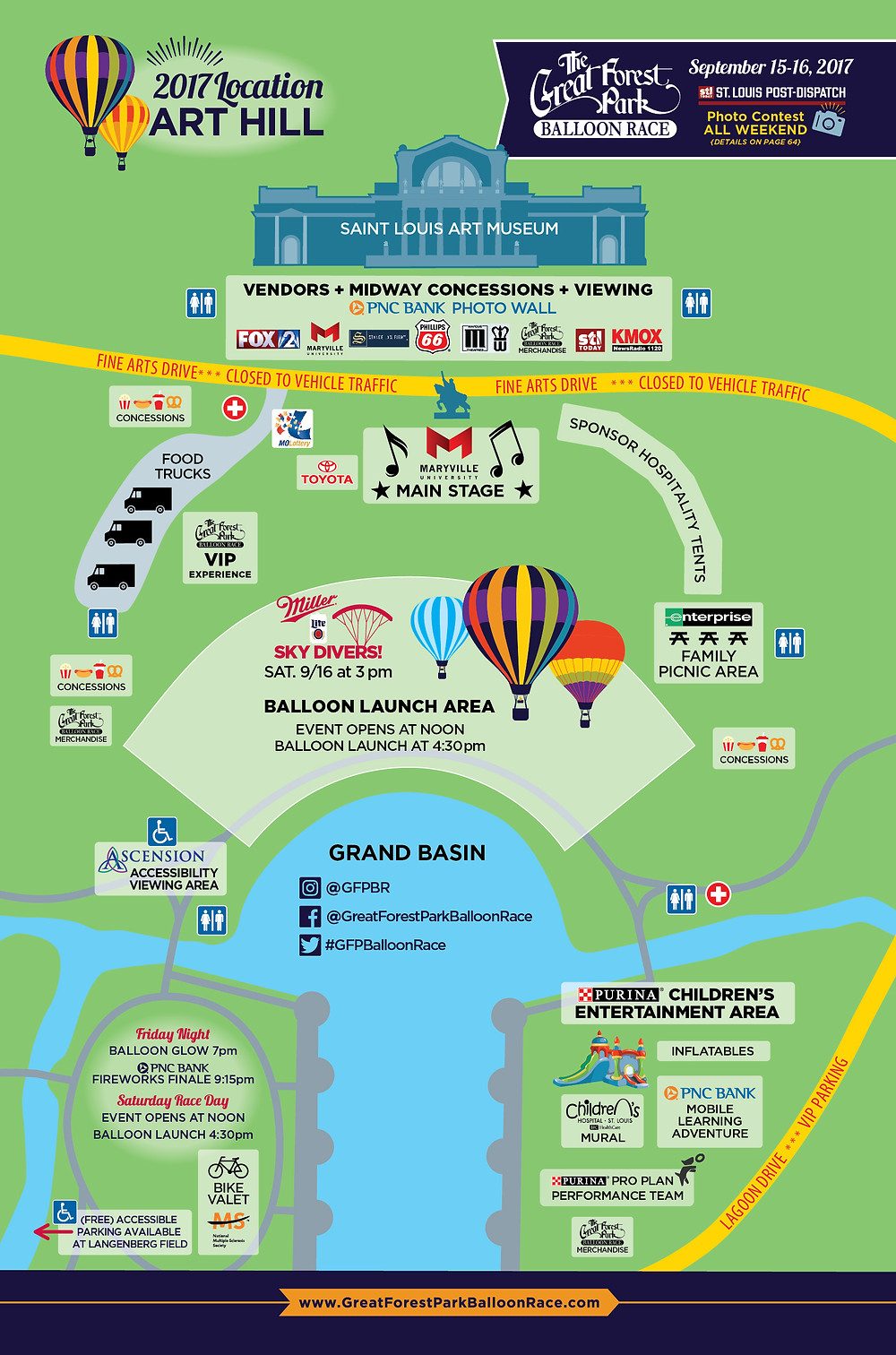Great Forest Park Balloon Race Map 2017