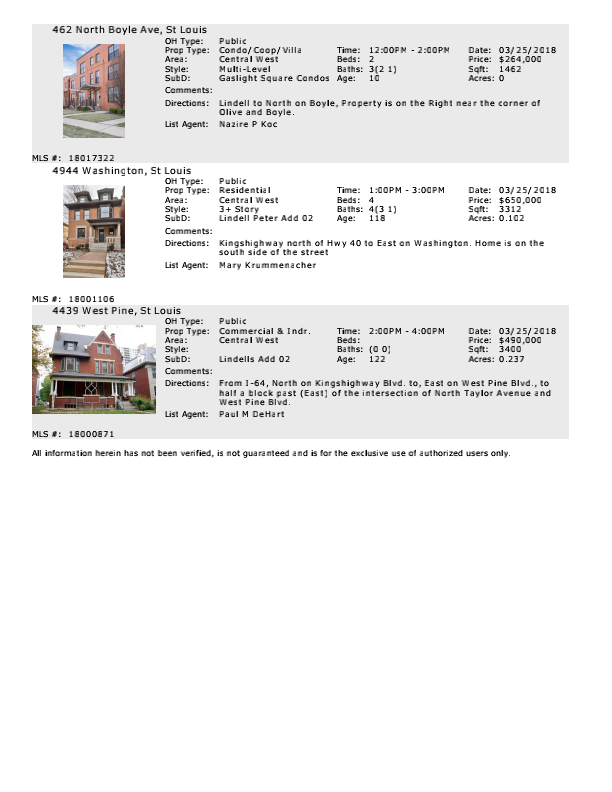 Weekend Open Houses in the Central West End - www.CentralWestEndLiving.com