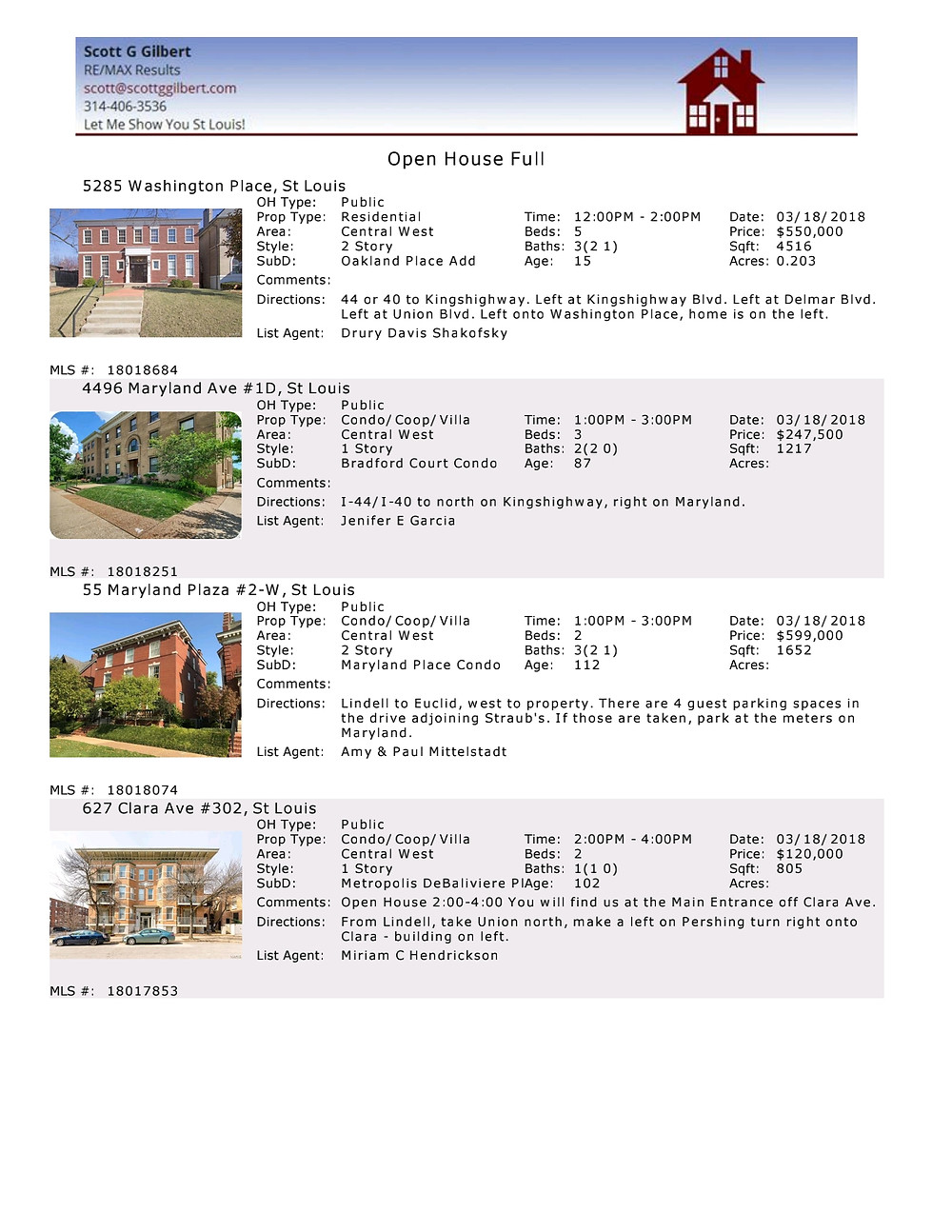 CWE Open Houses March 2018 | www.stlouisliving.info