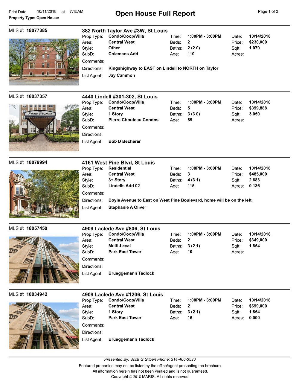 Central West End Open Houses | Trusted Realtor