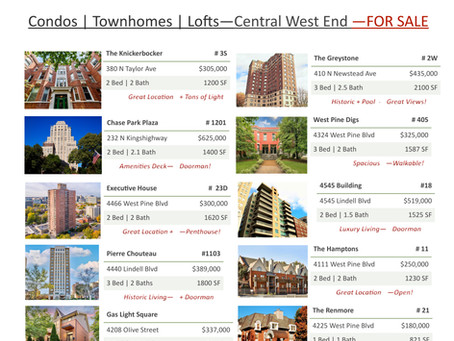 Central West End | Homes FOR SALE | October 2021
