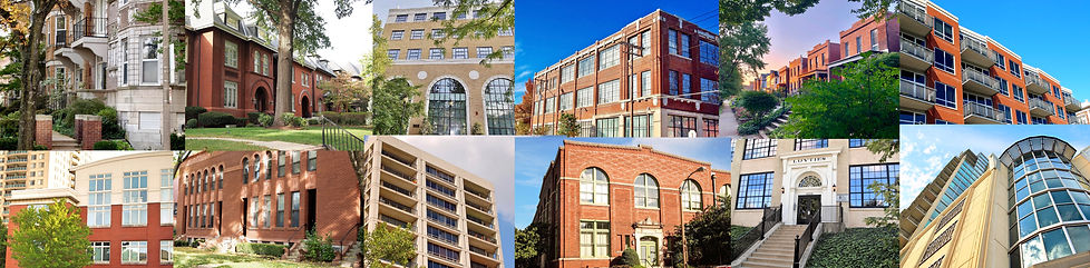 The Central West is filled with a great variety of townhomes, lofs, condos, mid-rises & high-rises