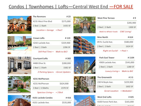 Central West End | Homes FOR SALE | July 2021