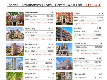 Central West End | Homes FOR SALE | Sept 2021