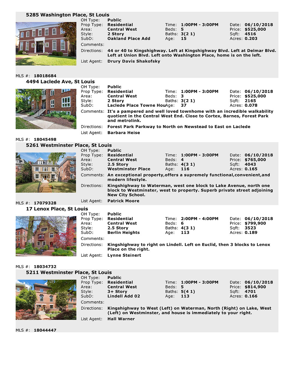 Central West End Open Houses | Laclede
