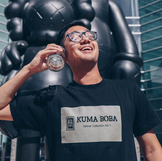 kuma boba bubble tea asian guy apparel o