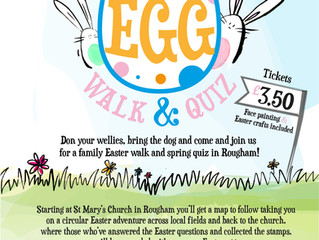 Easter Egg Walk & Quiz : Saturday 30th March 2019