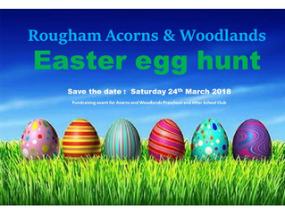 Save the date ...... Easter egg hunt 24th March 2018