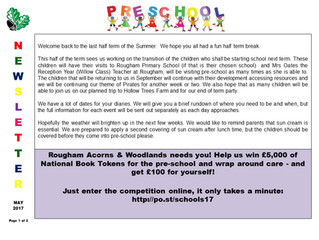 Pre-school Newsletter