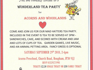 10 Year Celebration Tea Party : 29th Sept