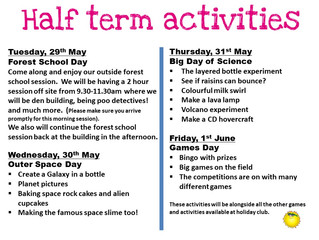 May Half Term Holiday Club