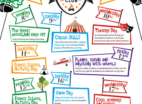Easter Holiday Club Activities