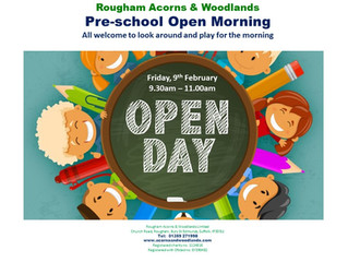 Pre-school Open Morning : 9th February 2018 9.30am-11.00am - everyone welcome