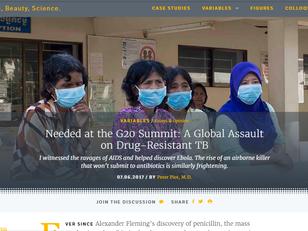 Calls for international action on drug-resistant TB