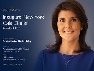 INAUGURAL NEW YORK GALA DINNER December 5, 2019
