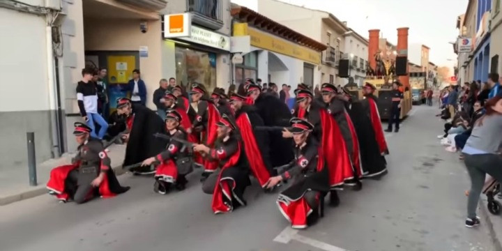 The controversial parade show in Campo de Criptana, Spain. Photo: YouTube screenshot (via Europa Press).