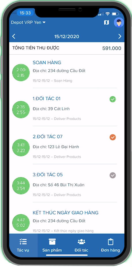 Giao diện ứng dụng Mobile App