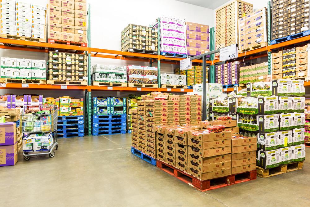 Nhà kho của một doanh nghiệp phân phối thực phẩm
