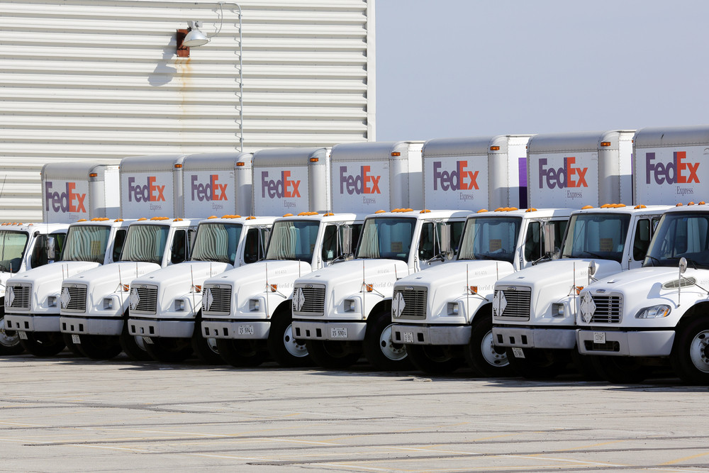 Transportation fleet of a logistics company (FedEx)