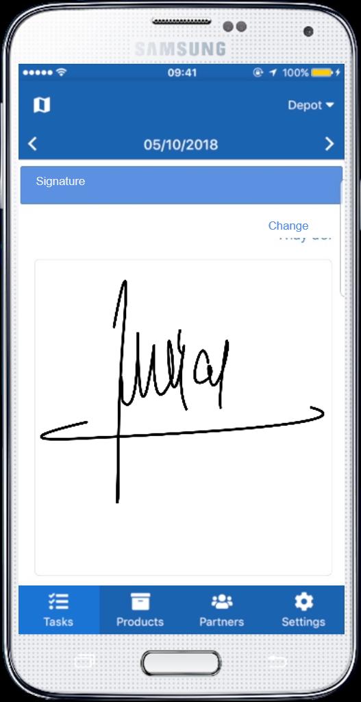 Chữ ký trên Smartphone