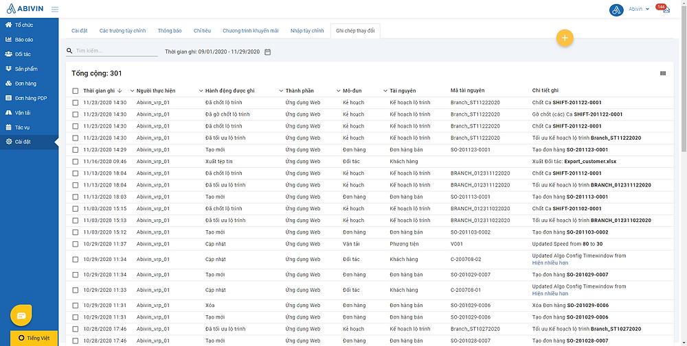 Hệ thống Audit Log ghi chép hoạt động