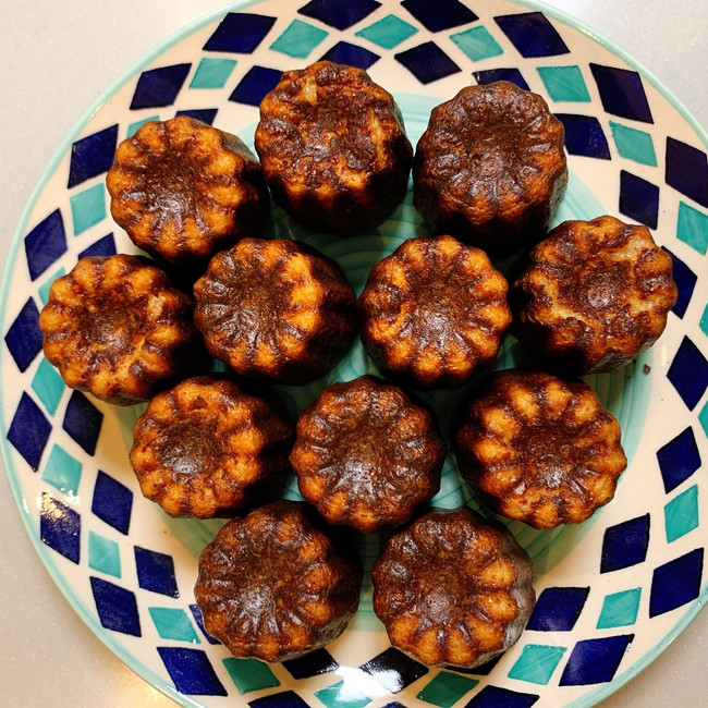 Bressaola and parmesan canneles