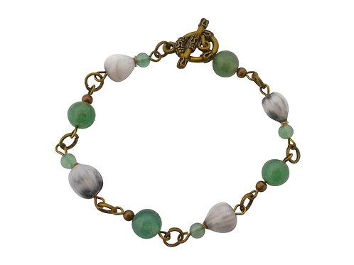 St Helena bracelet with local Horsebead Seed & Aventurine