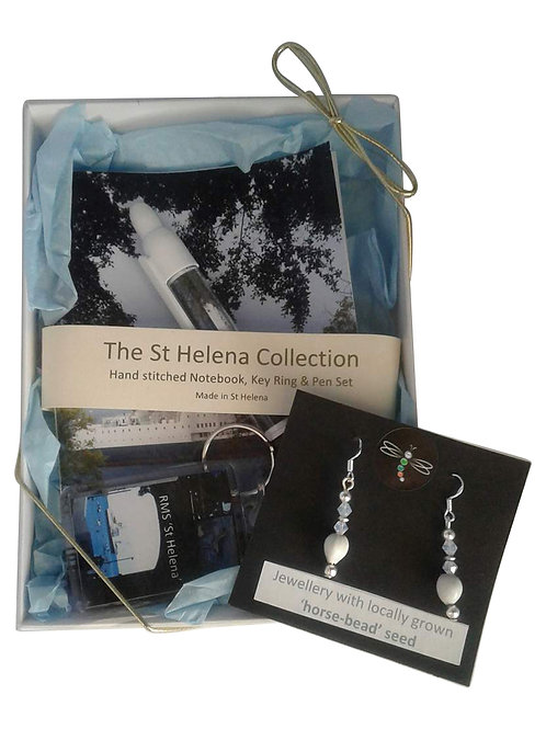 RMS St Helena gift set - horsebead seed earrings