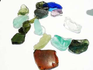 Beach glass on St Helena: up-cycled treasures