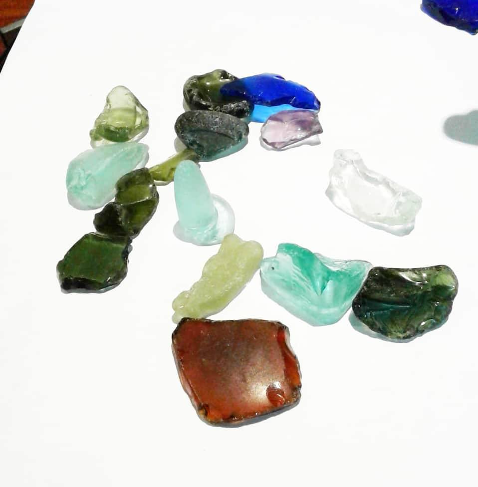 Beach glass , sea glass
