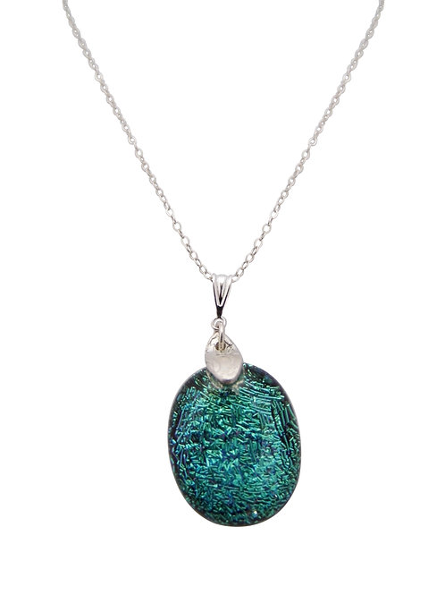 'Aqua Lady' necklace with St Helena Fused Glass