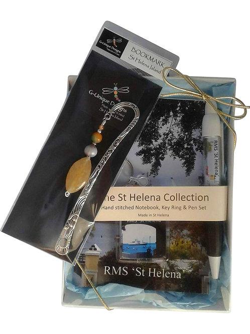 RMS St Helena gift set - horsebead seed bookmark