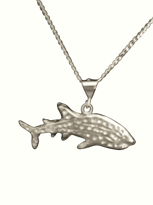 Whaleshark necklace - Fine silver
