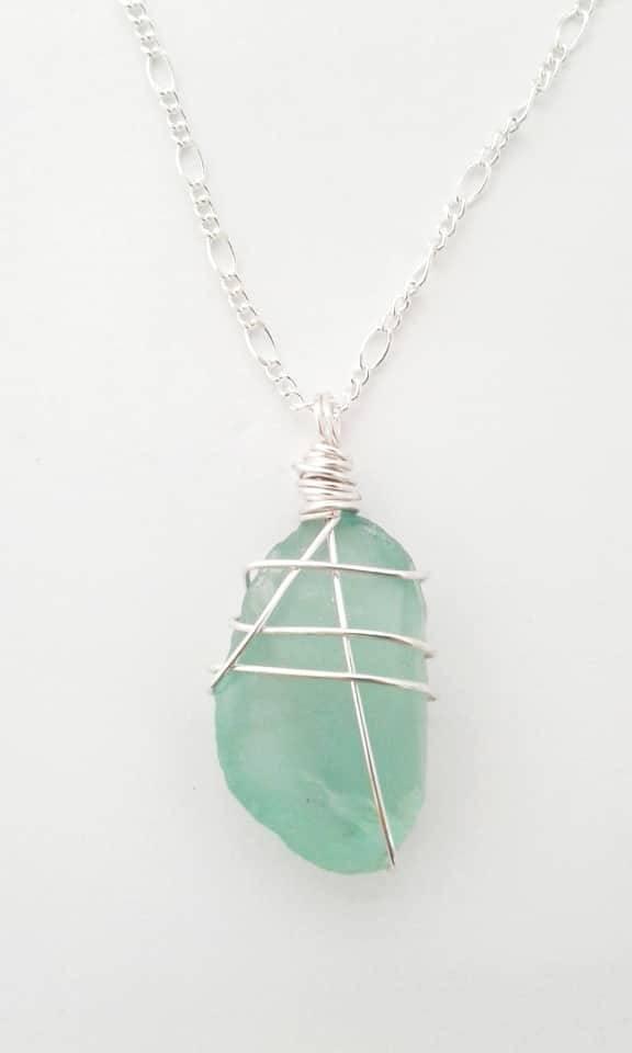 Sea glass necklace - St Helena Island