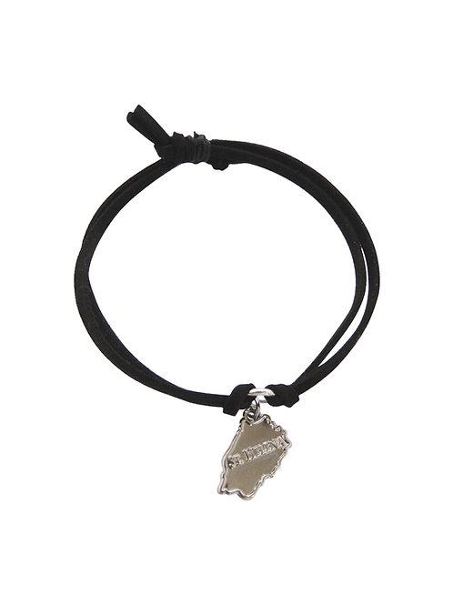 St Helena Island Cord Bracelet - Black