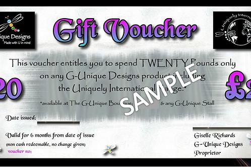 G-Unique Gift Voucher £20