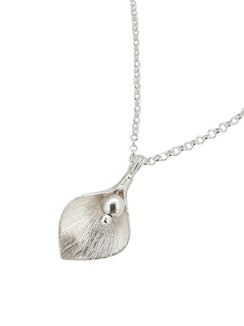 St Helena Arum lily necklace - Silver