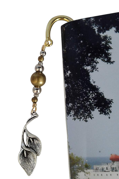 St Helena Arum lily bookmark - Gold