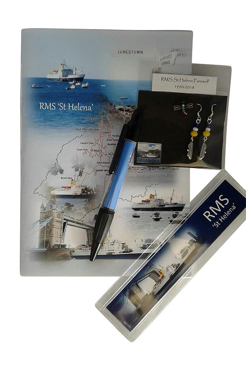 RMS St Helena gift set with RMS Earrings
