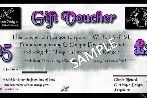 G-Unique Gift Voucher £25
