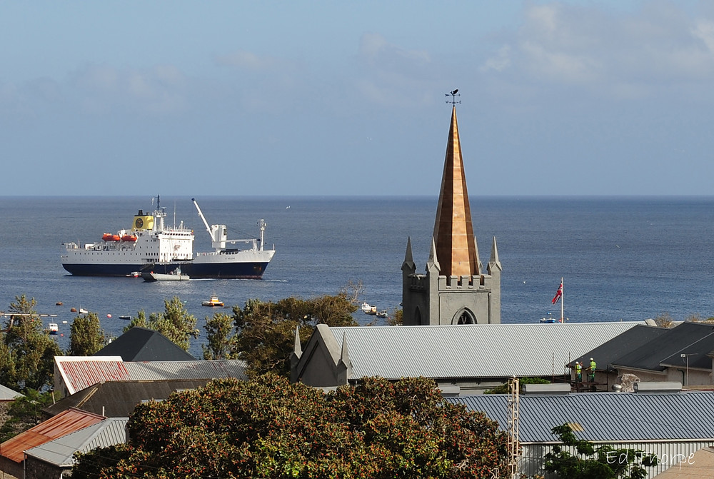 RMS St Helena in harbour