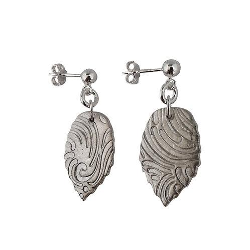 Fine Silver Leaf earrings - stud & butterfly backs